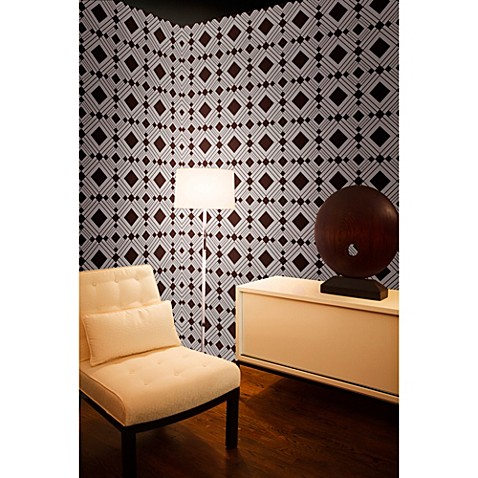 Tempaper Removable Wallpaper In Diamond Chocolate Bed