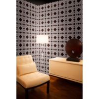 Tempaper® Double Roll Removable Wallpaper in Diamond Chocolate