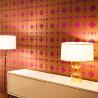 Tempaper® Double Roll Removable Wallpaper in Diamond Violet