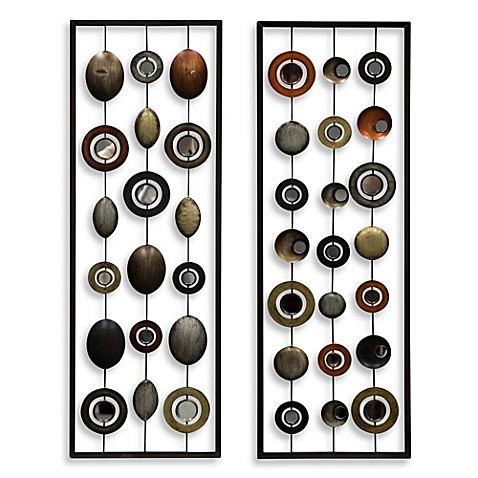 Metal Mirror Wall Decor In Circle Panel Bed Bath Amp Beyond