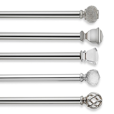 image of Cambria® Premier Complete Decorative Window Curtain Hardware in Polished Nickel