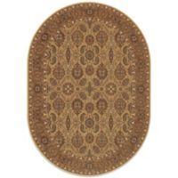 Couristan® All Over Vase 5-Foot 3-Inch x 7-Foot 6-Inch Oval Rug in Hazelnut