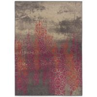 Oriental Weavers Kaleidescope 4-Foot x 5-Foot 9-Inch Contemporary Rug in Gray/Pink