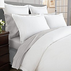Wamsutta® Baratta Stitch MicroCotton® Duvet Cover in White