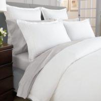 Wamsutta® Baratta Stitch MicroCotton® Standard Pillow Sham in White