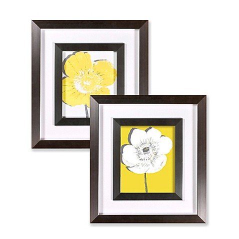 yellow blossom wall art bed bath beyond. Black Bedroom Furniture Sets. Home Design Ideas