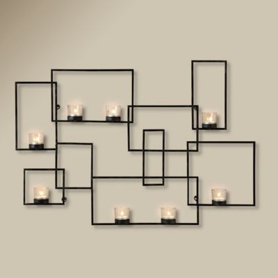 Black Wall Candle Holders wall tealight candle holder - thesecretconsul