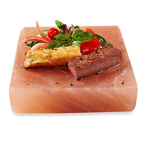 Himalayan salt cooking serving slab bed bath beyond for Cooking fish on a salt block