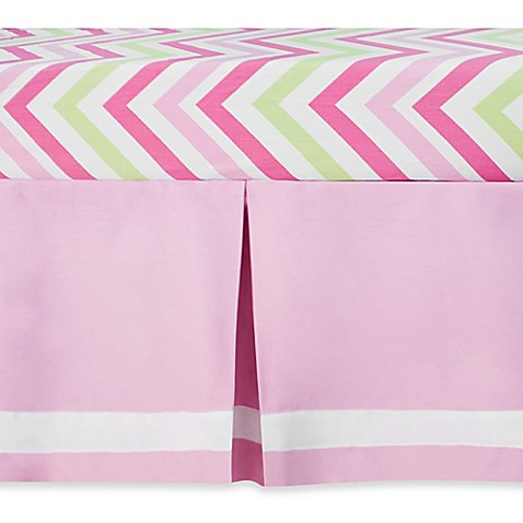 CoCaLo Audrey Gathered Crib Skirt In Solid Pink