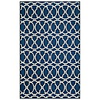 Momeni Baja Indoor/Outdoor 5-Foot 3-Inch x 7-Foot 6-Inch Rug in Indigo