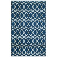 Momeni Baja Indoor/Outdoor 2-Foot 3-Inch x 4-Foot 6-Inch Rug in Indigo