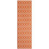 Momeni Baja Indoor/Outdoor 2-Foot 3-Inch x 7-Foot 6-Inch Rug in Orange