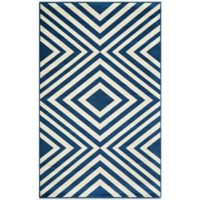 Momeni Baja Indoor/Outdoor 2-Foot 3-Inch x 4-Foot 6-Inch Rug in Navy