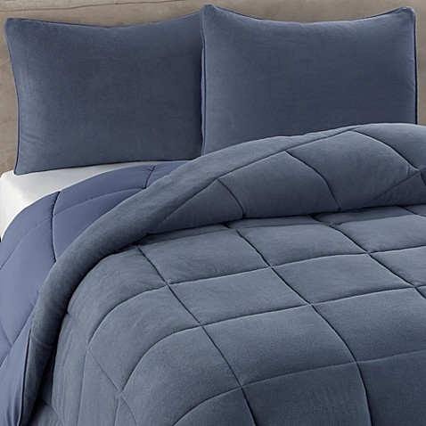 berkshire blanket® microloft softer sleep™ comforter set in blue
