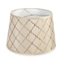 Mix & Match Medium 15-Inch Quatrefoil Pattern Drum Lamp Shade