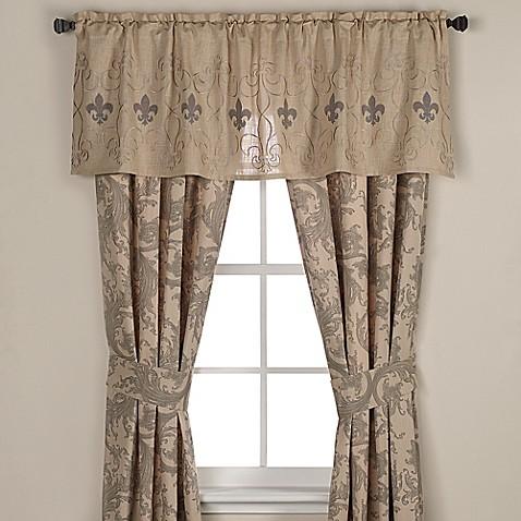 Fleur De Lis Window Curtain Panel Pair And Valance Bed