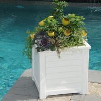 Mayne Lakeland 20-Inch x 20-Inch Planter in White