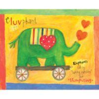 12-Inch x 12-Inch Motif Elephant Wall Art