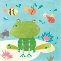 12-Inch x 12-Inch Frog and Fish Wall Art