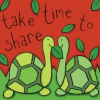 """12-Inch x 12-Inch """"Take Time to Share"""" Wall Art"""
