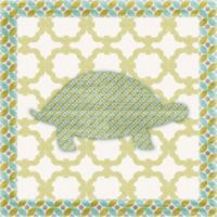 12-Inch x 12-Inch Sweet Pattern Turtle Wall Art