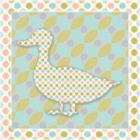 12-Inch x 12-Inch Sweet Pattern Duck Wall Art