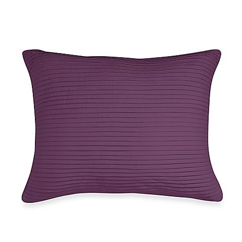 Wamsutta Baratta Stitch Oblong Throw Pillow in Purple - Bed Bath & Beyond