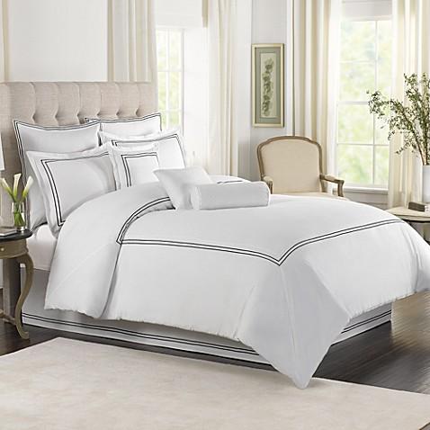 Wamsutta 174 Baratta Stitch Mini Comforter Set In White Bed