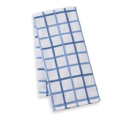 Kitchensmart® 18 Inch X 28 Inch Plaid Kitchen Towel In Lake