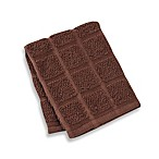Kitchensmart® 12-Inch x 12-Inch Solid Dish Cloth in Chocolate