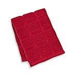 Kitchensmart® 12-Inch x 12-Inch Solid Dish Cloth in Paprika