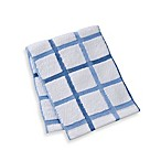 Kitchensmart® 12-Inch x 12-Inch Plaid Dish Cloth in Blue