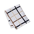 Kitchensmart® 12-Inch x 12-Inch Plaid Dish Cloth in Mocha