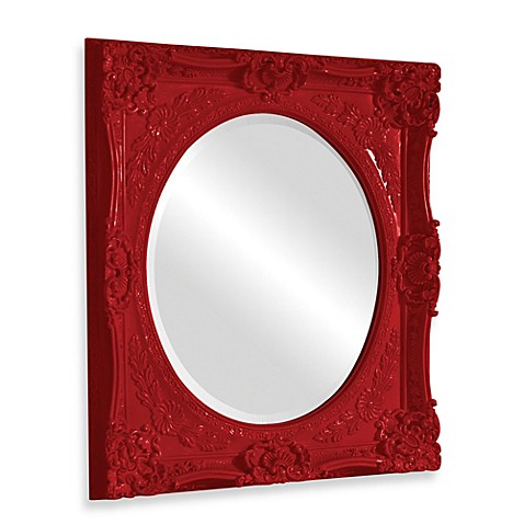 Howard Elliot Monique Wall Mirror in Glossy Red - Bed Bath & Beyond