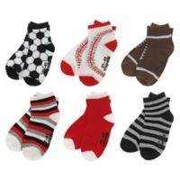 Capelli New York Size 12-24M 6-Pack Multi-Sports Socks