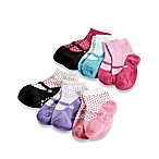 Capelli New York 6-Pack Size 12-24M Miss Mary Jane Socks with Grippers