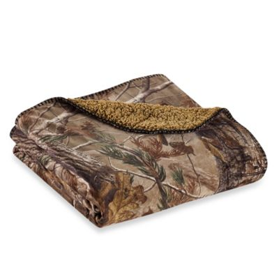 realtree camo fleece throw
