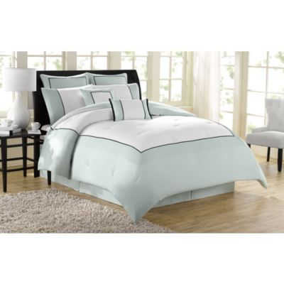 soho new york home hotel 8piece queen comforter set