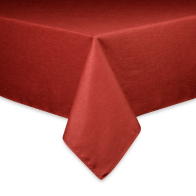 Basketweave Tablecloth   60 Inch Round   Cherry