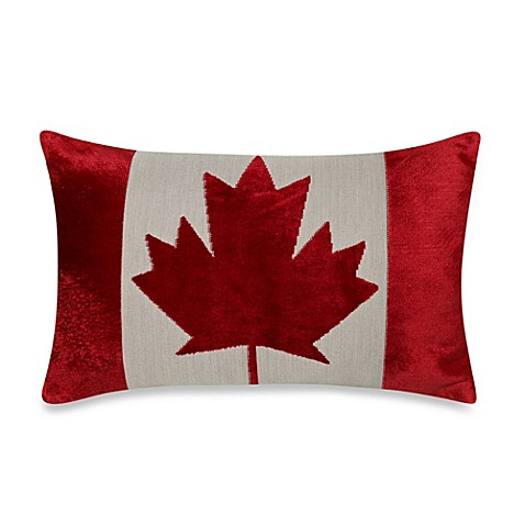 Bed Bath And Beyond Red Throw Pillows : Canadian Flag Oblong Throw Pillow - Bed Bath & Beyond