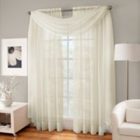 Crushed Voile Sheer Scarf Valance in Ivory