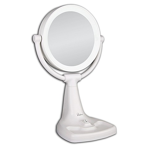 Zadro 1x 10x magnifying max bright sunlight vanity mirror - Bed bath and beyond bathroom vanity ...