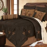 HiEnd Accents Laredo 4-Piece Twin Comforter Set in Chocolate