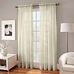 Crushed Voile Sheer 84-Inch Window Curtain Panel in Butter