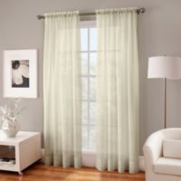 Crushed Voile Sheer 95-Inch Window Curtain Panel in Butter