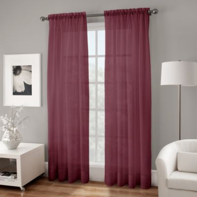 Buy Burgundy Sheer Curtains from Bed Bath & Beyond