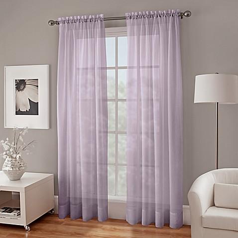 crushed voile sheer window curtain panel bed bath beyond. Black Bedroom Furniture Sets. Home Design Ideas