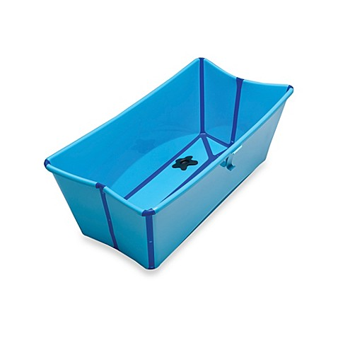 stokke flexi bath bath tub in blue buybuy baby. Black Bedroom Furniture Sets. Home Design Ideas