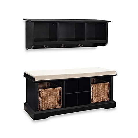 Buy Crosley Brennan 2 Piece Entryway Bench Amp Shelf Set In