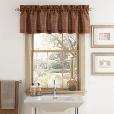 Deron Bath Window Curtain Valance In Vermillion